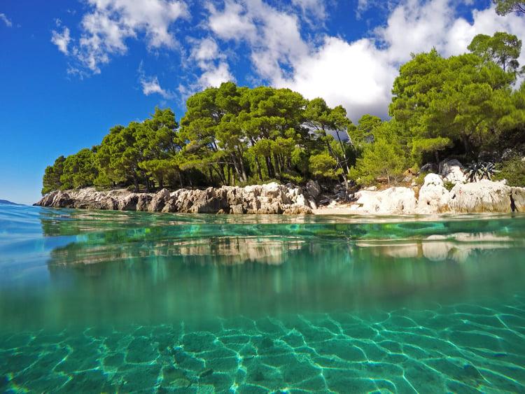 Secluded beach Makarska